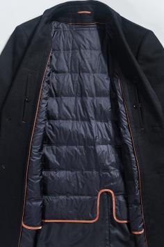 Y9956秋冬新款羊毛大衣羽绒