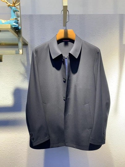 FZ9828春秋新款翻领扣板风衣