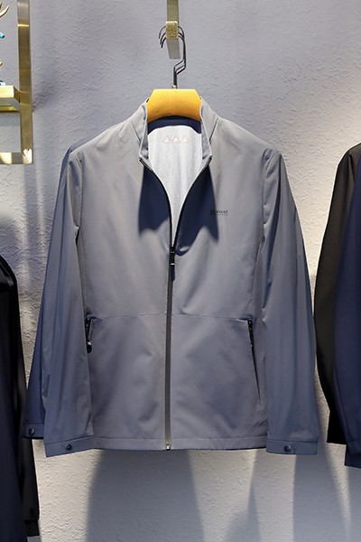 J21851春秋时尚立领夹克