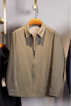 JQ2101 春装纯棉翻领2021新款休闲男士夹克