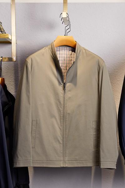 JQ2102春装立领纯棉新款夹克博尔顿